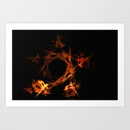 Fire pentagram Art Print