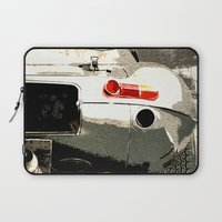 1975 Laptop Sleeves featuring Jaguar E-TYpe by Fernando Vieira