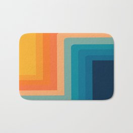 Retro 70s Color Lines Bath Mat