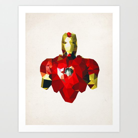 Polygon Heroes - Iron Man Art Print