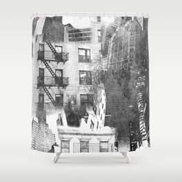 N.Y. collage Shower Curtain