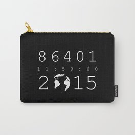86401 Leap Second 2015 (white version) Carry-All Pouch
