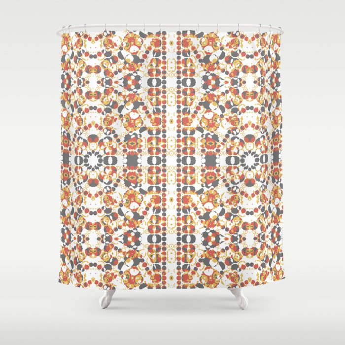 Multicolored Geometric Pattern Shower Curtain By Danflcreativo