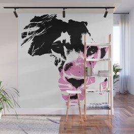 Lion Heart Africa Pink Wall Mural