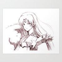 inuyasha Art Prints featuring Inuyasha by Gin-Uzumaki