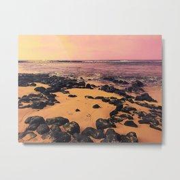 Pink Hawain Sunset Metal Print