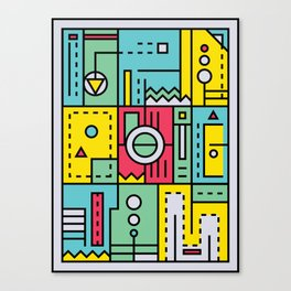 Play on words | Graphic jam Canvas Print