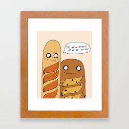 Baguette Love Framed Art Print