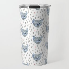 Inky Bat Pattern Travel Mug