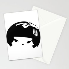 Kokeshi Head Logo Design Stationery Cards