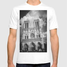 Notre Dame Mens Fitted Tee SMALL White