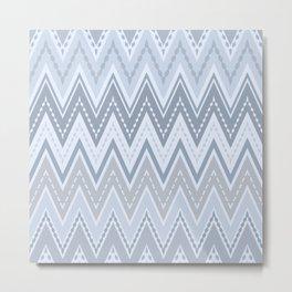 Zigzag Retro Metal Print