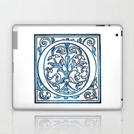 Letter O Antique Floral Letterpress Laptop & iPad Skin