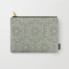 geo six circles-walnut on celadon Carry-All Pouch