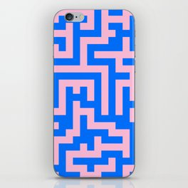 Cotton Candy Pink and Brandeis Blue Labyrinth iPhone Skin