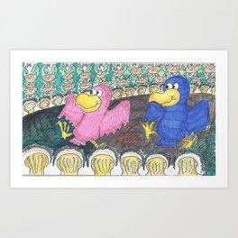 Dancing Birds Art Print
