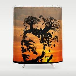 KALAHARI KHOISAN DREAM Shower Curtain