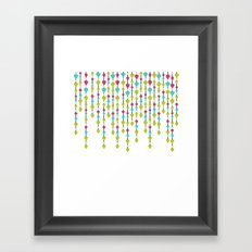 Pearl beads and hearts . Framed Art Print