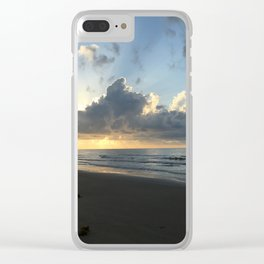 Sunset at Surfside Beach Clear iPhone Case