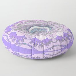 Lavender Gentleness & Poise Boho Vintage Mandala Floor Pillow