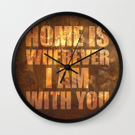 Home Is: Typography Wall Clock
