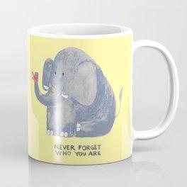 Elephant never forgets Coffee Mug