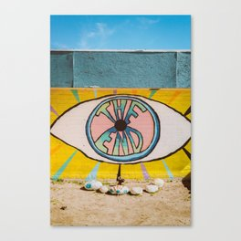 The End in Yucca Valley Canvas Print