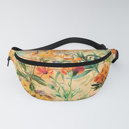 Vintage & Shabby Chic -  Sunny Gold Botanical Flowers Summer Day Fanny Pack