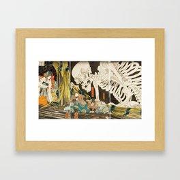 Takiyasha The Witch And The Skeleton Utagawa Kuniyoshi Framed Art Print