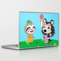 animal crossing Laptop & iPad Skins featuring Animal Crossing by Alex Owen
