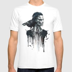 Zombie and Crow Mens Fitted Tee SMALL White