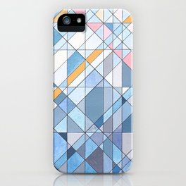 Triangle Pattern no.17 Light Blues iPhone Case