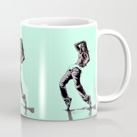 hiphop Mugs featuring B GIRL by ARTito