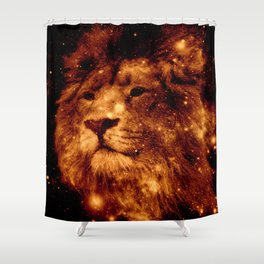Cosmic Leo Lion Shower Curtain