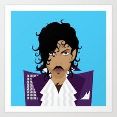 The Emoji-fication of His Purple Majesty: The Purple One Art Print
