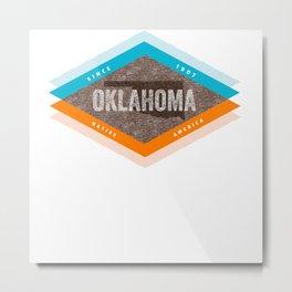 Vintage Mid Century Modern Oklahoma Metal Print