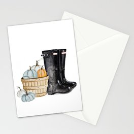 Fall boots Stationery Cards
