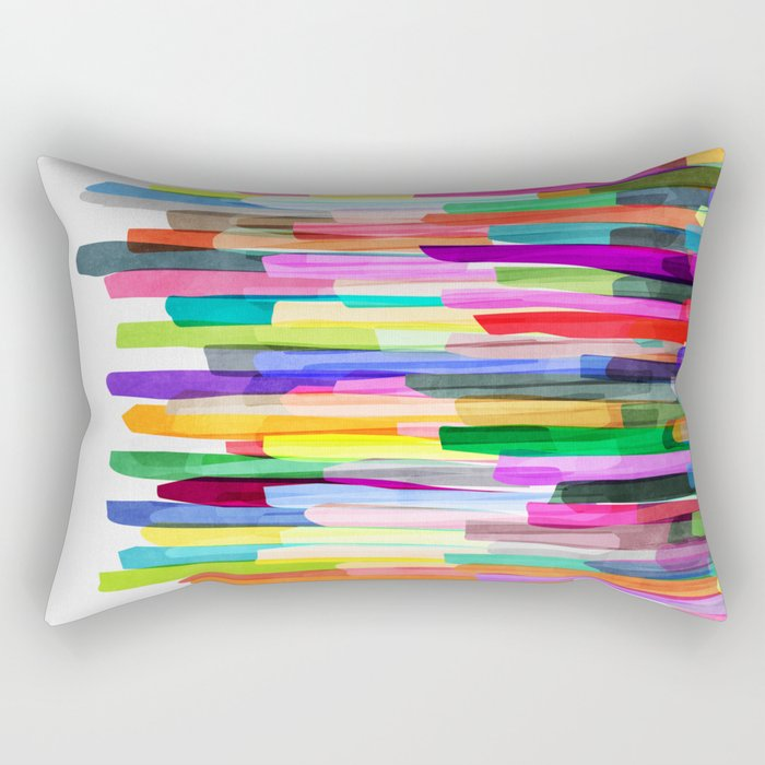 Colorful Stripes 4 Rectangular Pillow
