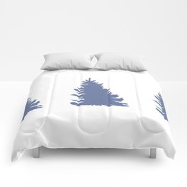 Blue Spruce Trees Woodland Decor Comforters