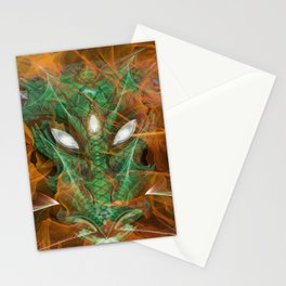 Emerald Aflame Stationery Cards