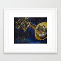 trumpet Framed Art Prints featuring Trumpet by Michael Creese