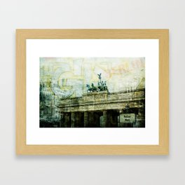 berlin collage Framed Art Print