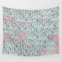 trippy Wall Tapestries featuring Trippy Mountains by BAKE