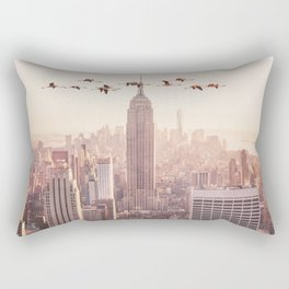 FLAMINGOS IN NEW YORK Rectangular Pillow