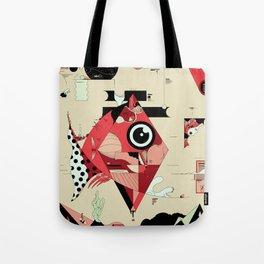 Fish and Squirrel Tote Bag
