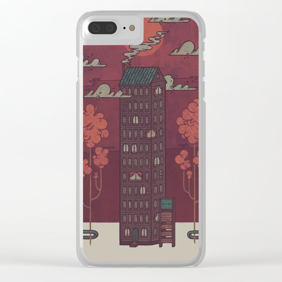 The Towering Bed and Breakfast of Unparalleled Hospitality Clear iPhone Case