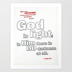 No Darkness at All Art Print