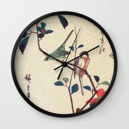 Camellia Branch Wall Clock