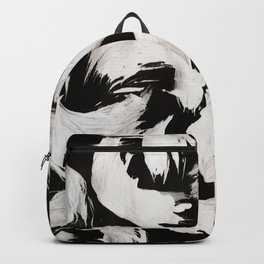 Cocoon, Abstract, White & Black Backpack