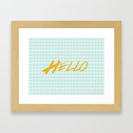 Hello Framed Art Print